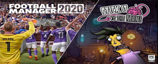Football Manager 2020, Stick It To The Man! & Watch Dogs 2